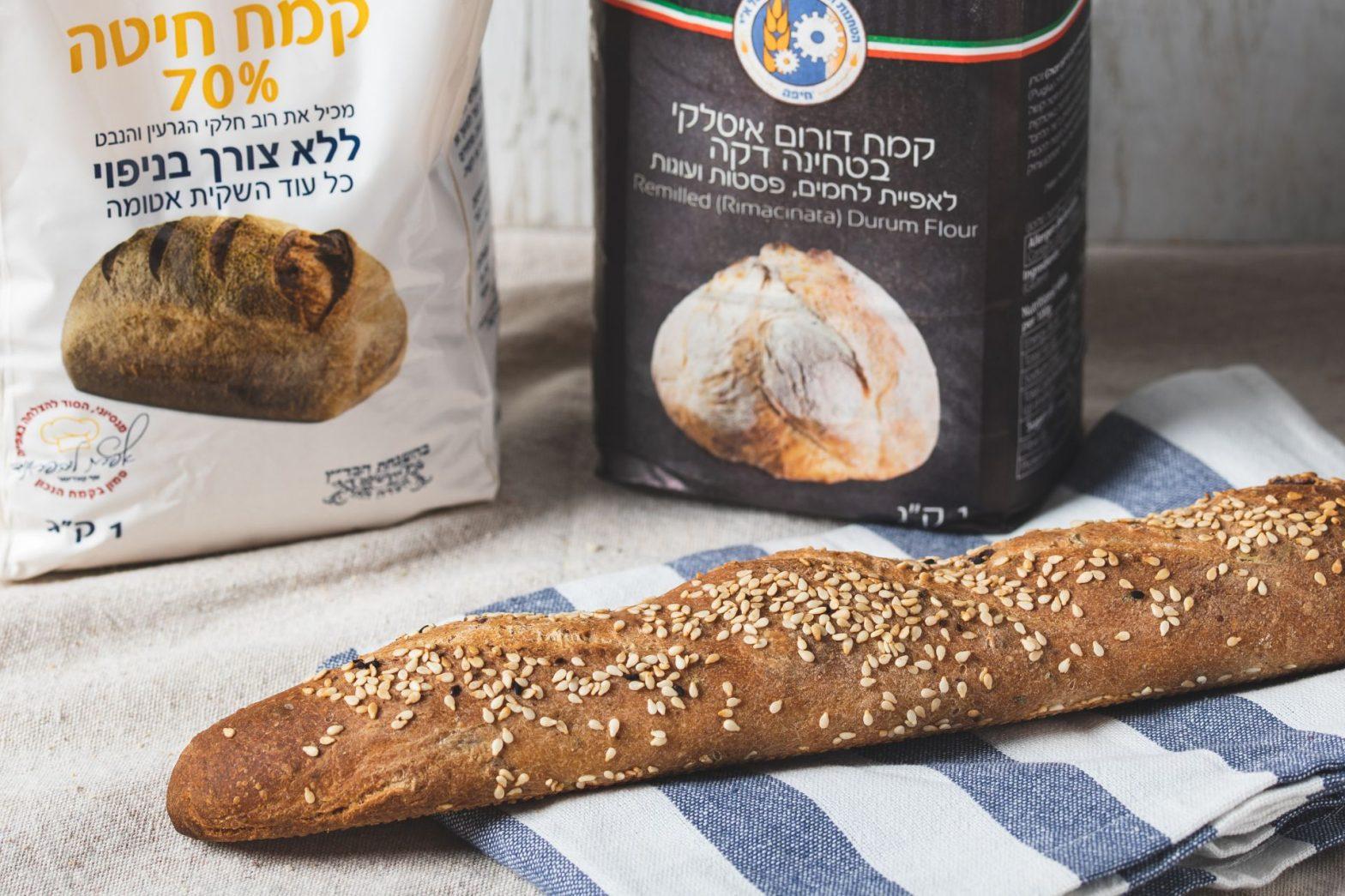 לחם קלמטה אורגנו ושמן זית של תומר בלס